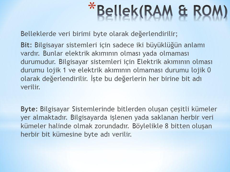 Bellek(RAM & ROM)
