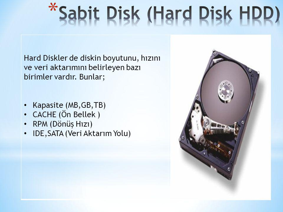 Sabit Disk (Hard Disk HDD)