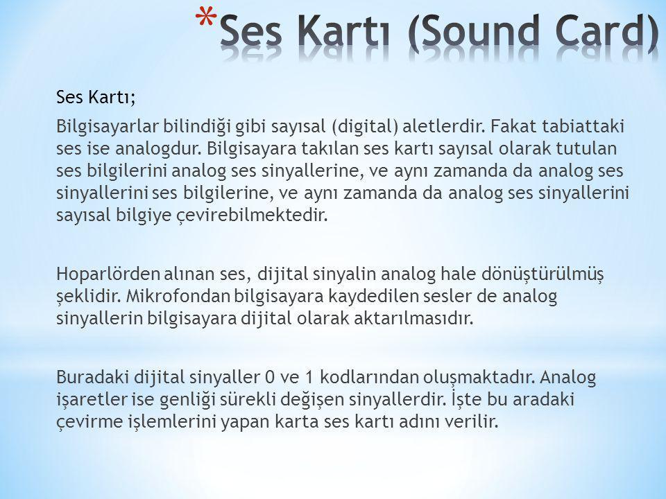 Ses Kartı (Sound Card)