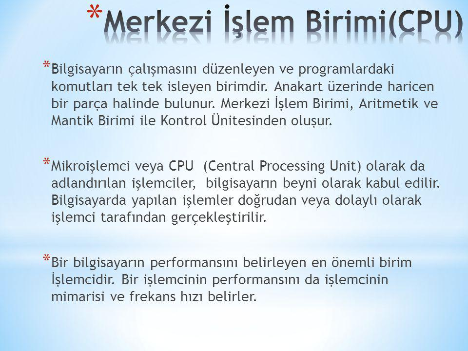 Merkezi İşlem Birimi(CPU)