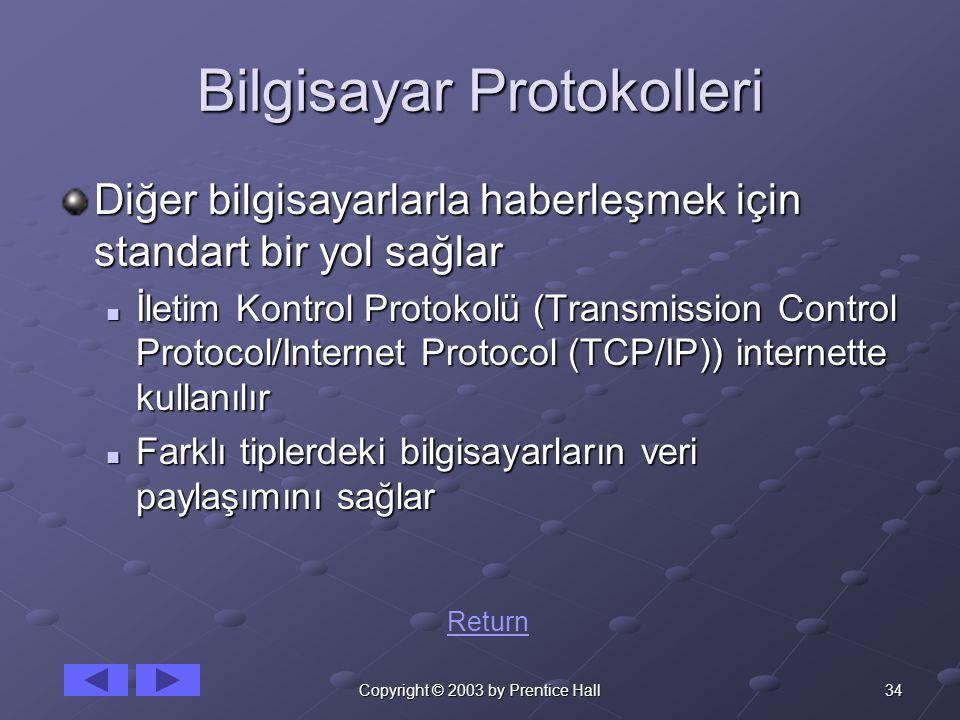 Bilgisayar Protokolleri