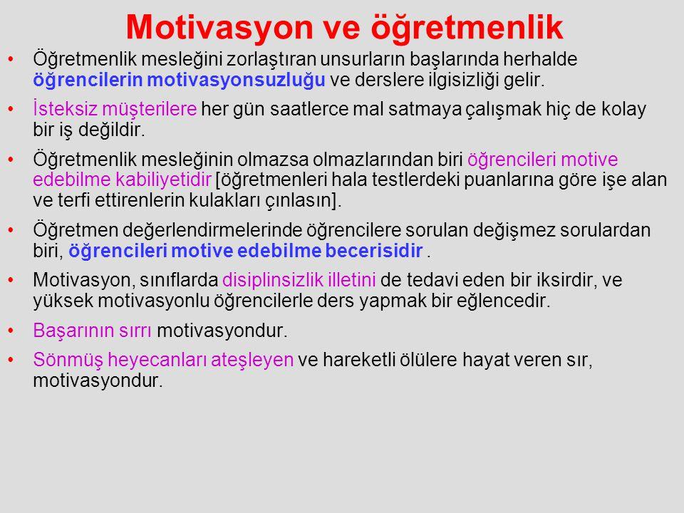 Motivasyon ve öğretmenlik