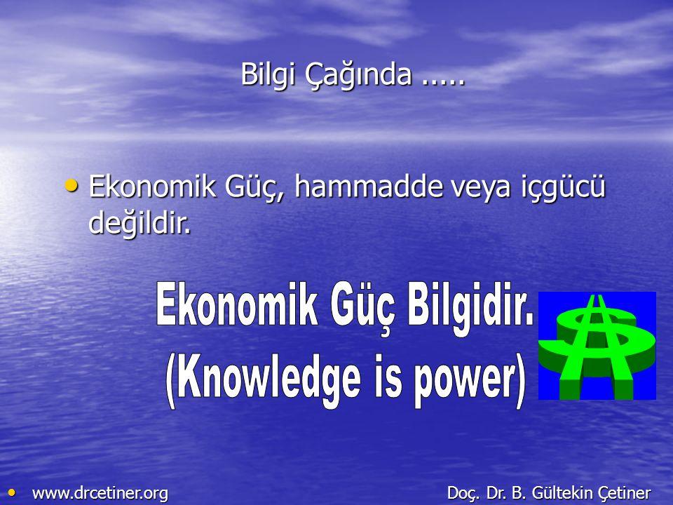 Ekonomik Güç, hammadde veya içgücü değildir.