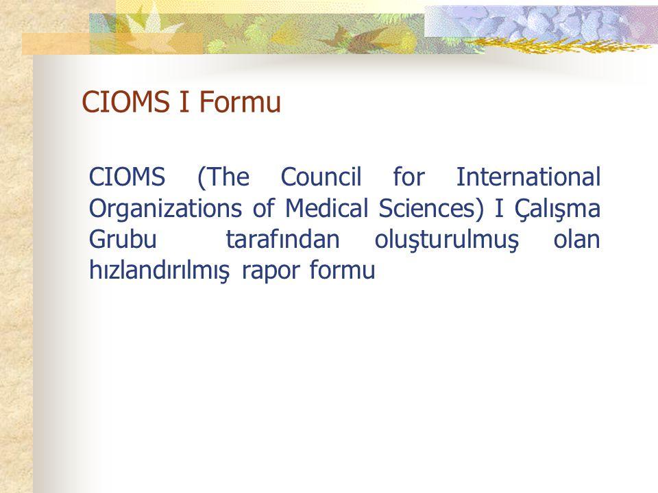CIOMS I Formu