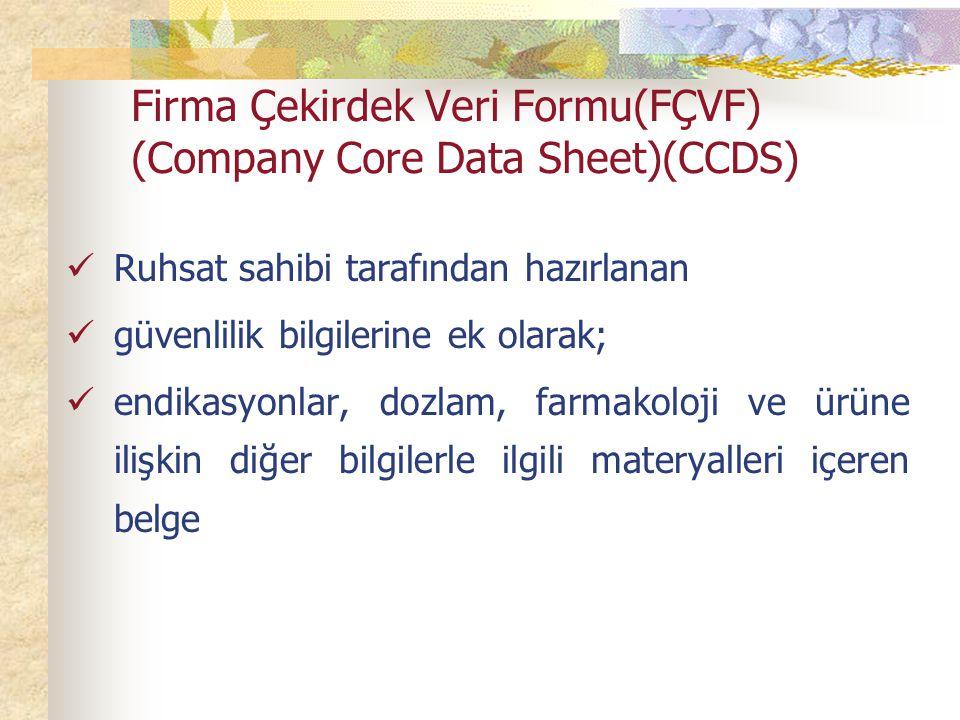 Firma Çekirdek Veri Formu(FÇVF) (Company Core Data Sheet)(CCDS)