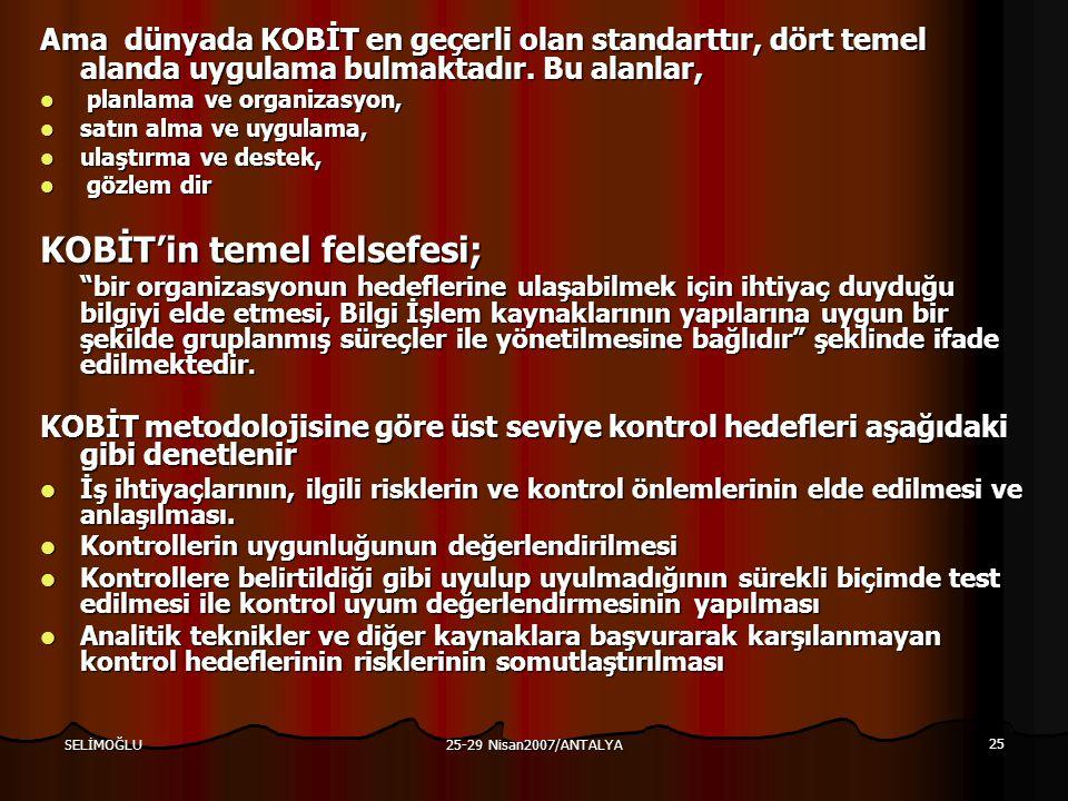 KOBİT'in temel felsefesi;
