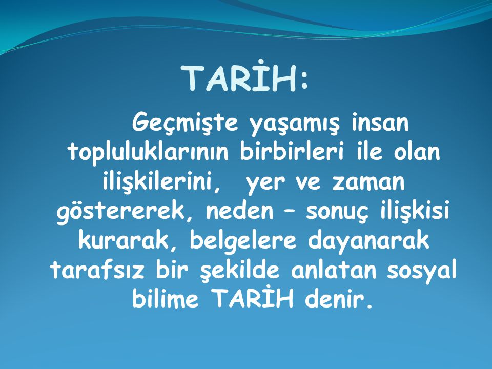 TARİH:
