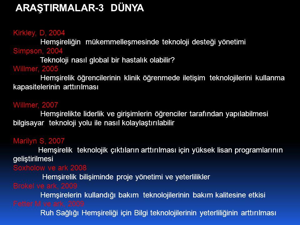 ARAŞTIRMALAR-3 DÜNYA Kirkley, D, 2004