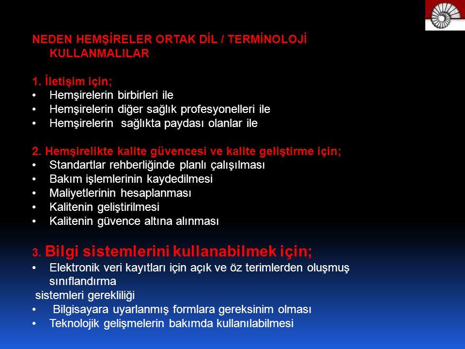 NEDEN HEMŞİRELER ORTAK DİL / TERMİNOLOJİ KULLANMALILAR