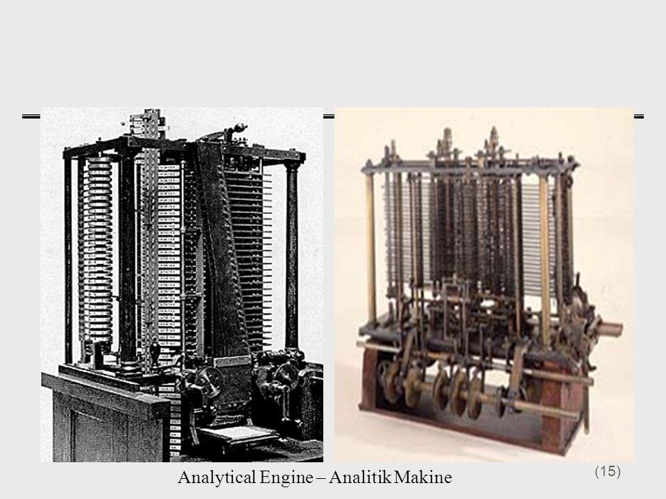 Analytical Engine – Analitik Makine