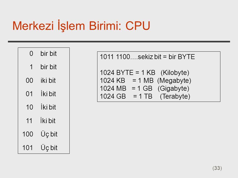 Merkezi İşlem Birimi: CPU
