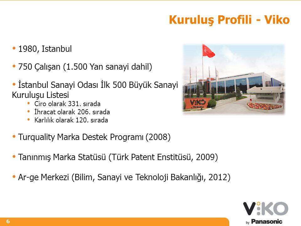Kuruluş Profili - Viko 1980, Istanbul
