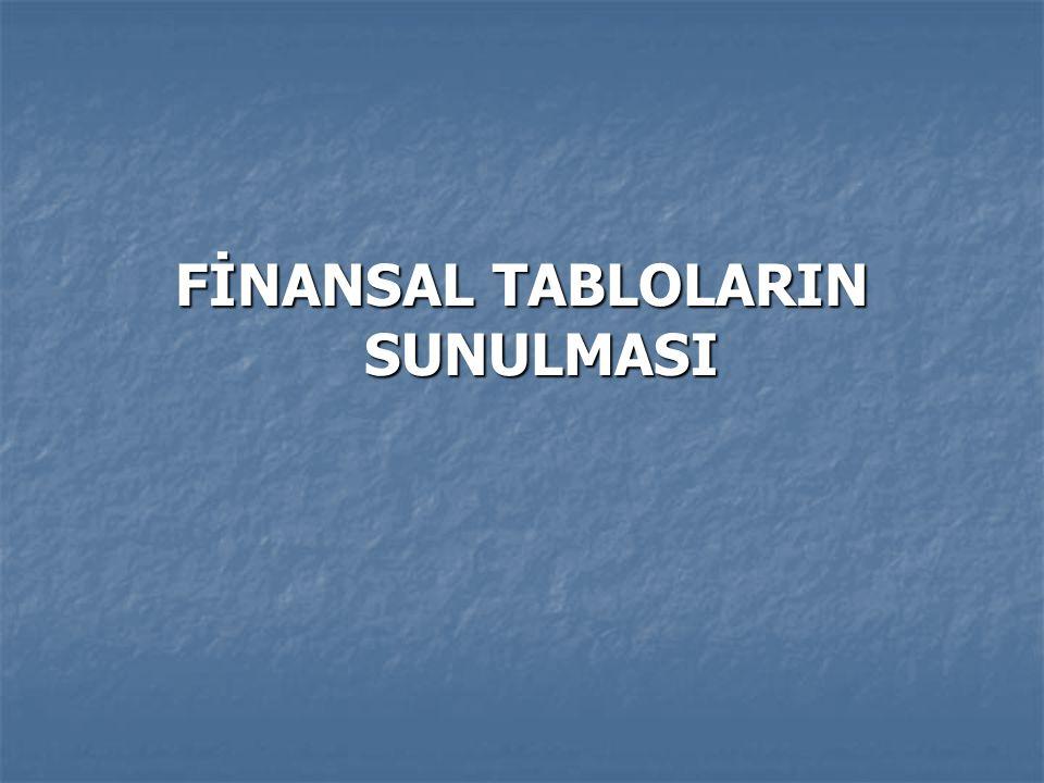 FİNANSAL TABLOLARIN SUNULMASI