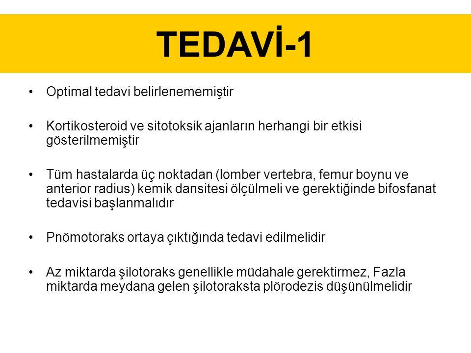 TEDAVİ-1 Optimal tedavi belirlenememiştir