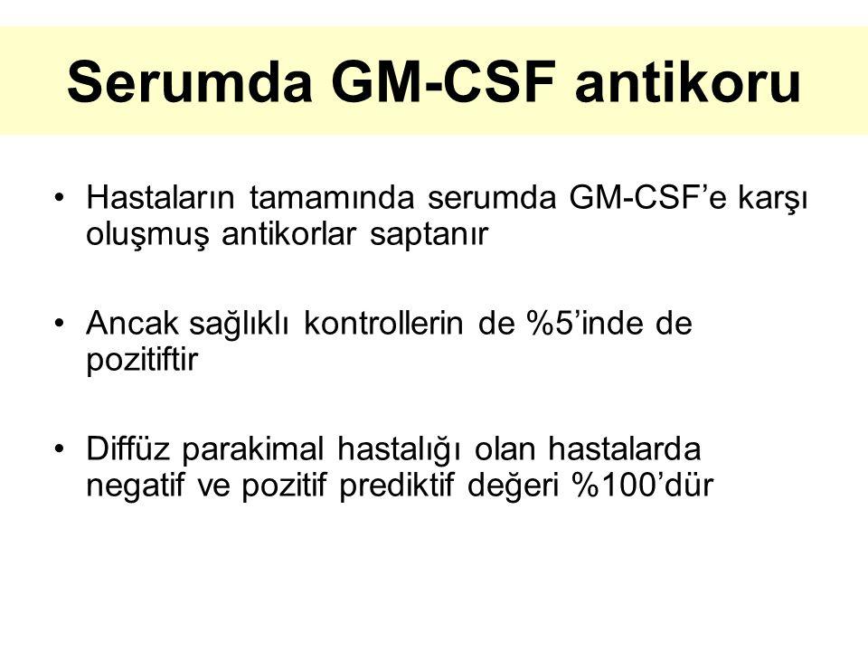 Serumda GM-CSF antikoru