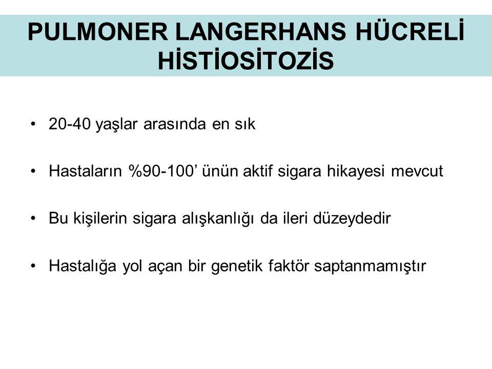 PULMONER LANGERHANS HÜCRELİ HİSTİOSİTOZİS