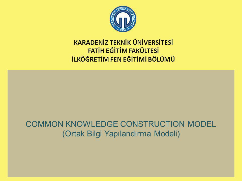 COMMON KNOWLEDGE CONSTRUCTION MODEL (Ortak Bilgi Yapılandırma Modeli)