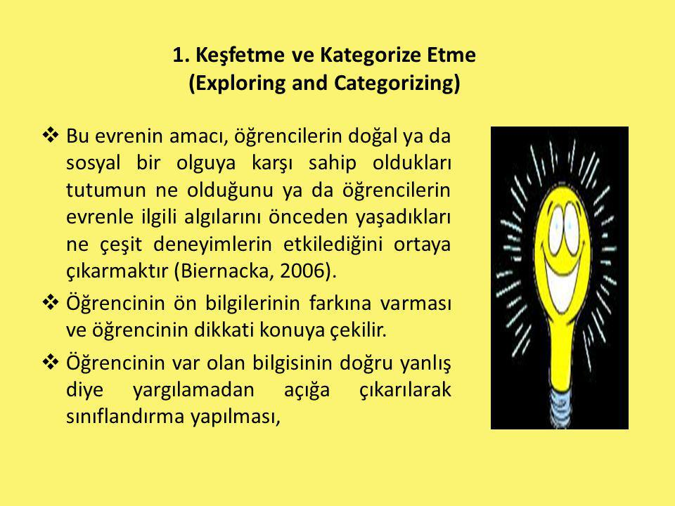 1. Keşfetme ve Kategorize Etme (Exploring and Categorizing)