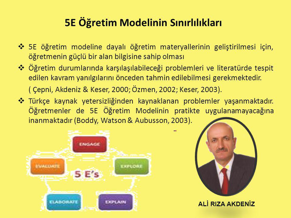 5E Öğretim Modelinin Sınırlılıkları