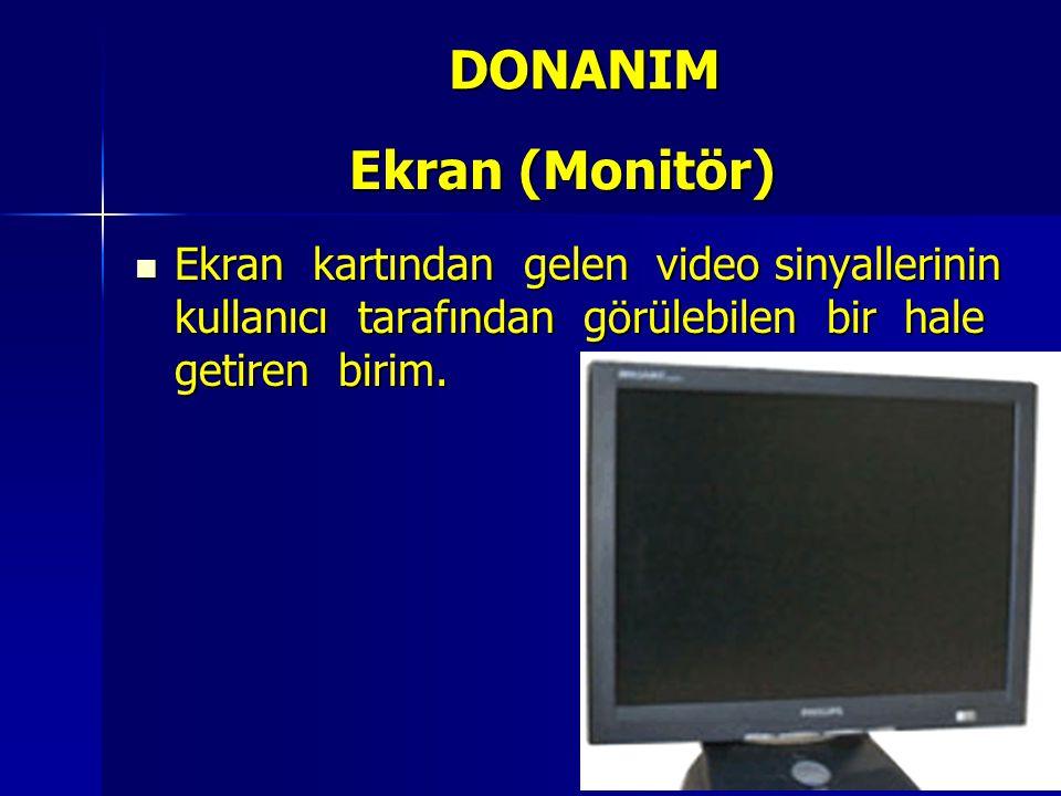 DONANIM Ekran (Monitör)