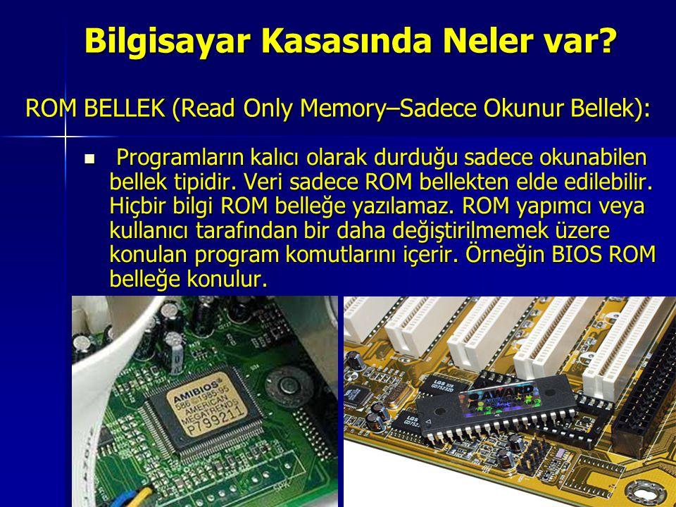 ROM BELLEK (Read Only Memory–Sadece Okunur Bellek):