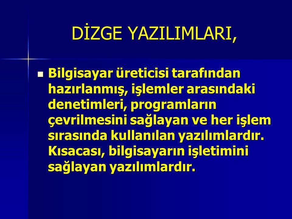 DİZGE YAZILIMLARI,