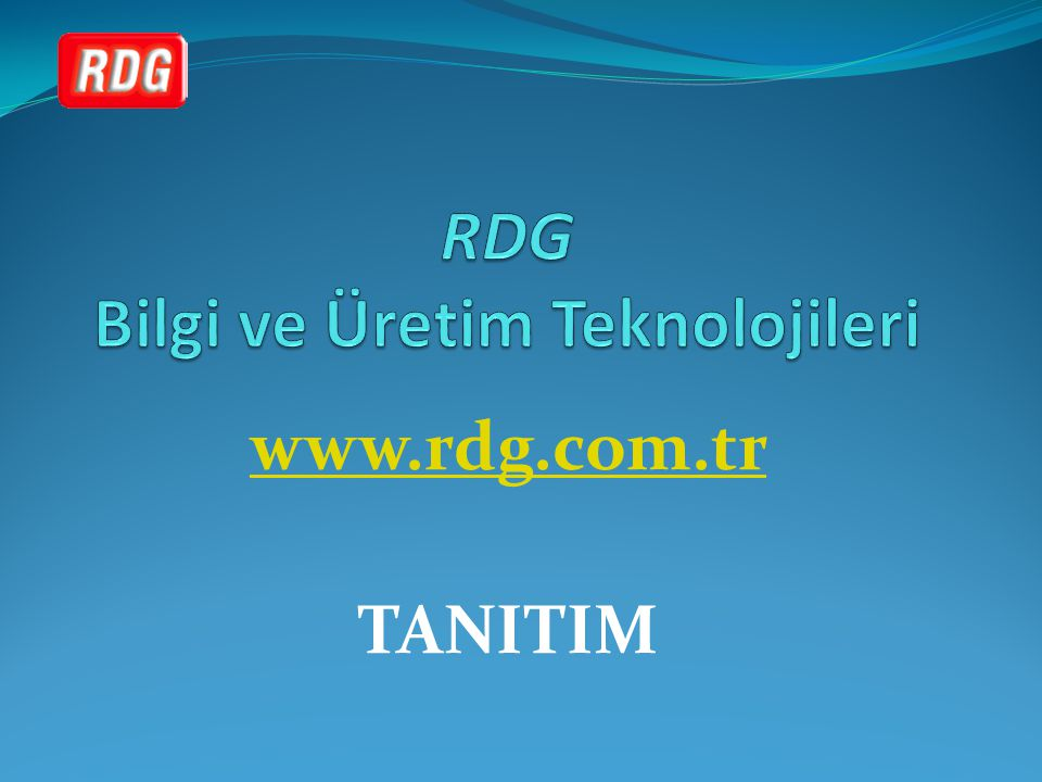RDG Bilgi ve Üretim Teknolojileri