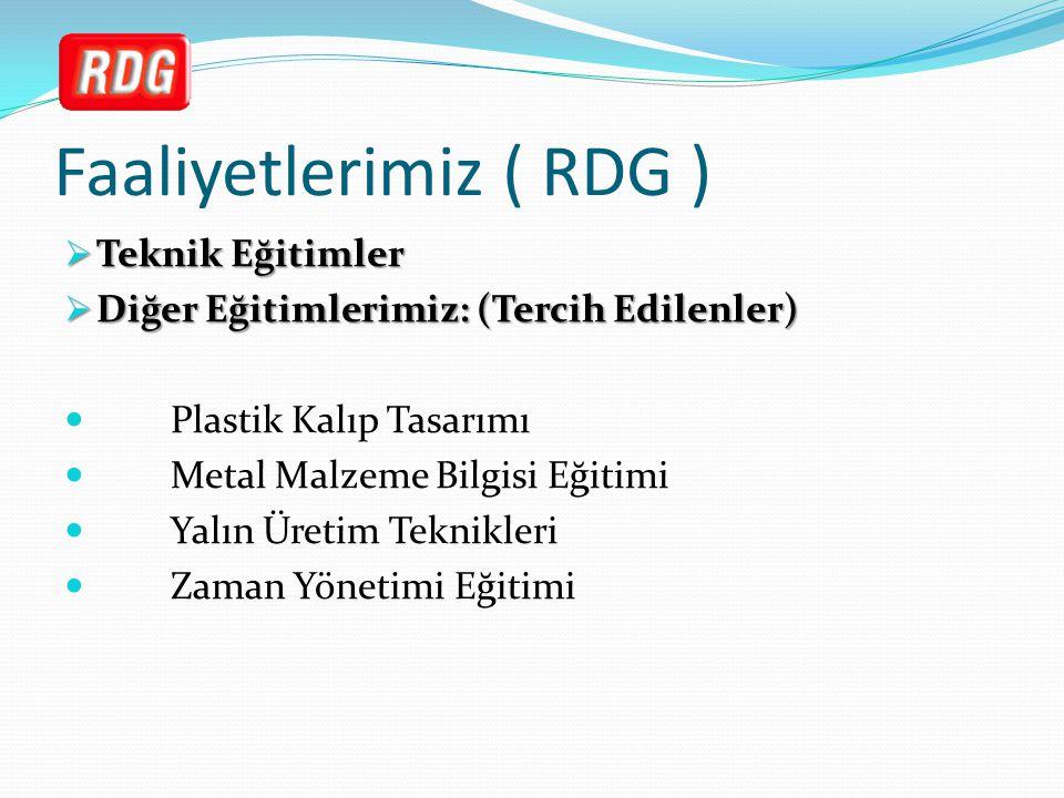 Faaliyetlerimiz ( RDG )