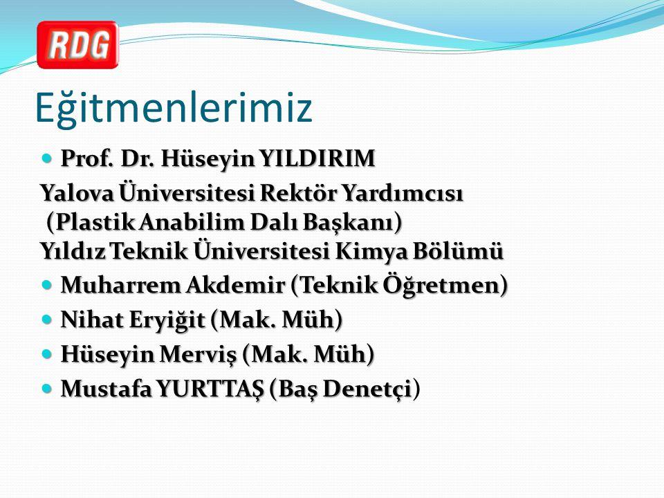 Eğitmenlerimiz Prof. Dr. Hüseyin YILDIRIM