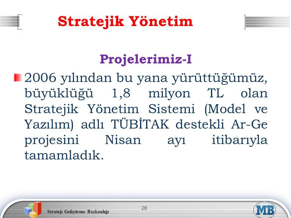 Stratejik Yönetim Projelerimiz-I