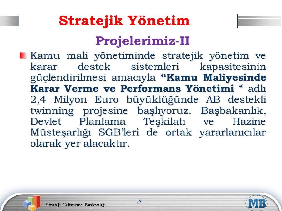 Stratejik Yönetim Projelerimiz-II
