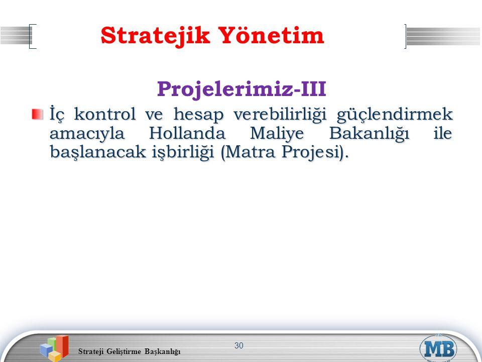 Stratejik Yönetim Projelerimiz-III