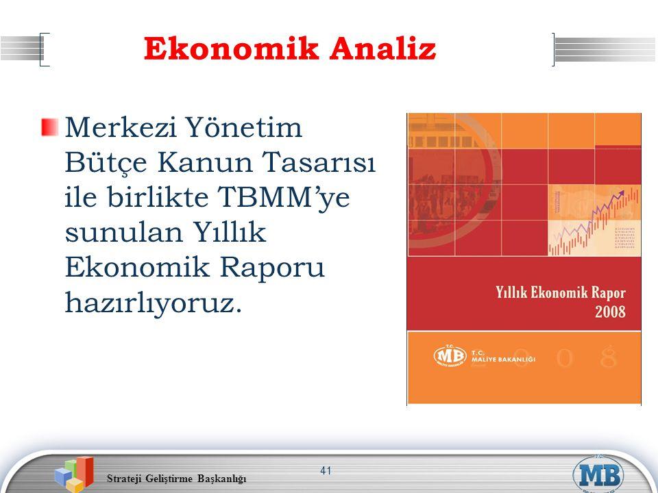 Ekonomik Analiz Merkezi Yönetim Bütçe Kanun Tasarısı ile birlikte TBMM'ye sunulan Yıllık Ekonomik Raporu hazırlıyoruz.