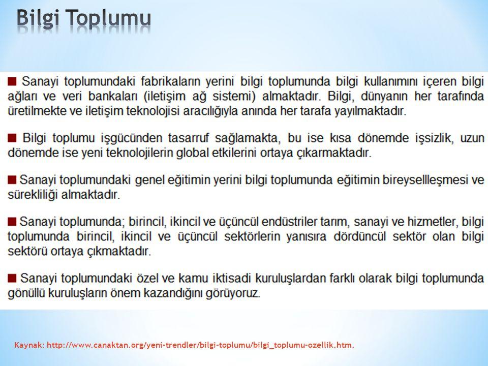 Bilgi Toplumu Kaynak: http://www.canaktan.org/yeni-trendler/bilgi-toplumu/bilgi_toplumu-ozellik.htm.