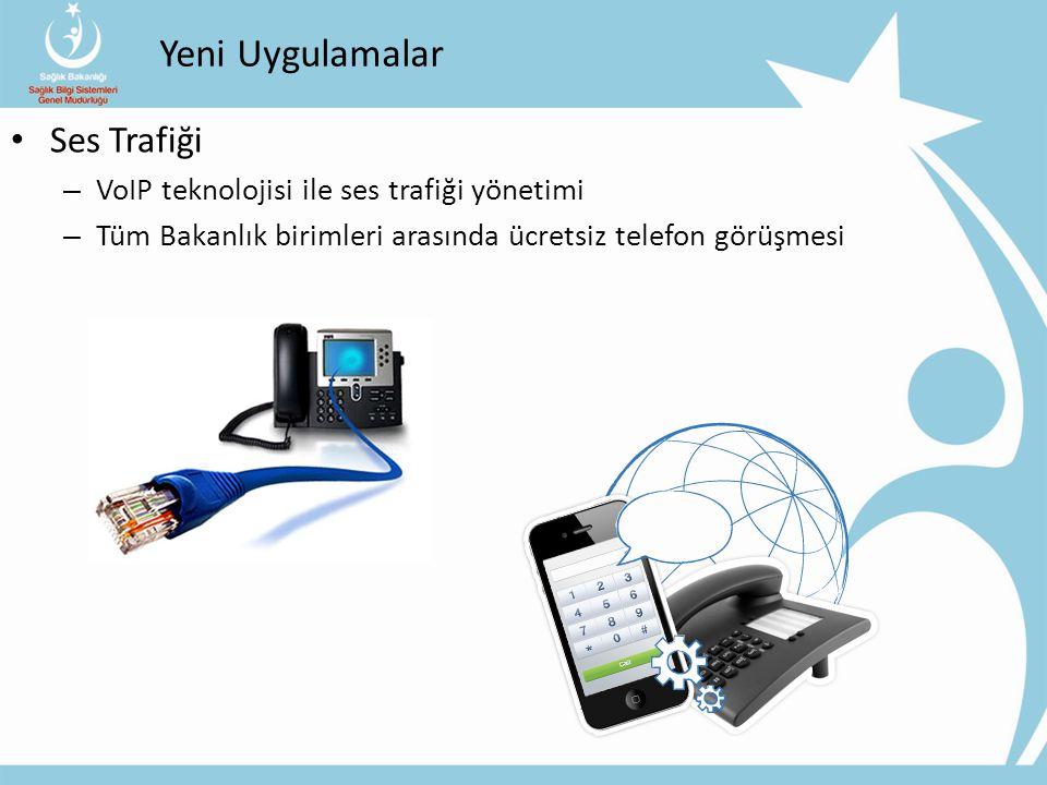 Yeni Uygulamalar Ses Trafiği VoIP teknolojisi ile ses trafiği yönetimi