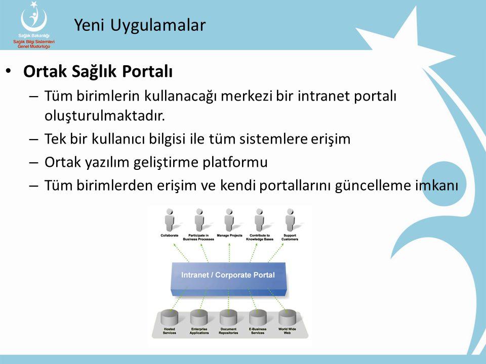 Yeni Uygulamalar Ortak Sağlık Portalı