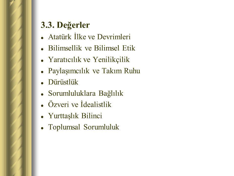 3.3. Değerler Atatürk İlke ve Devrimleri Bilimsellik ve Bilimsel Etik