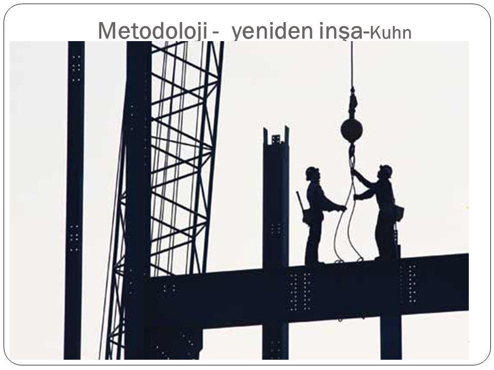 Metodoloji - yeniden inşa-Kuhn