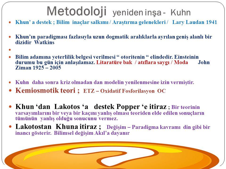 Metodoloji yeniden inşa - Kuhn