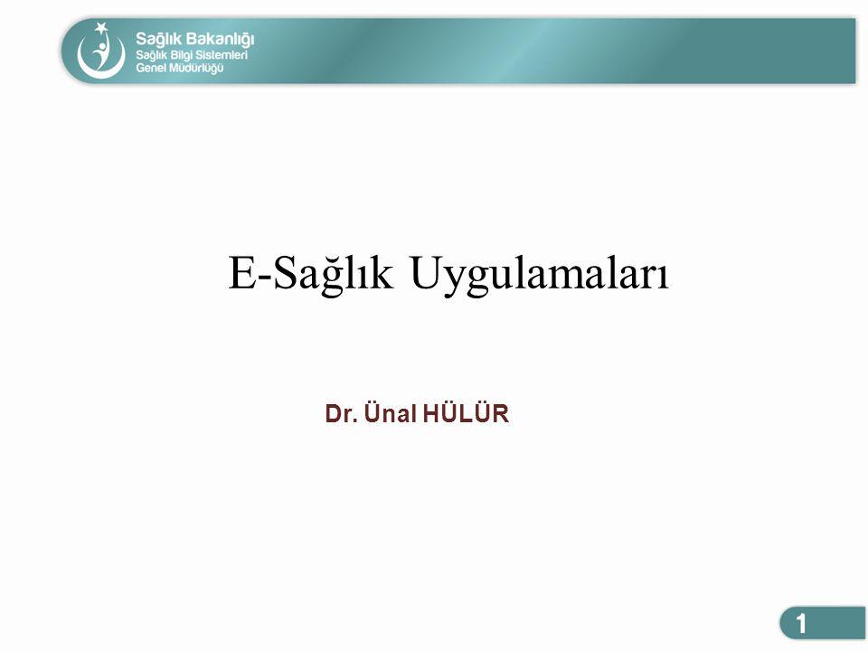 E-Sağlık Uygulamaları