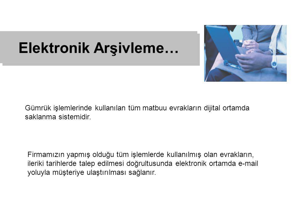Elektronik Arşivleme…