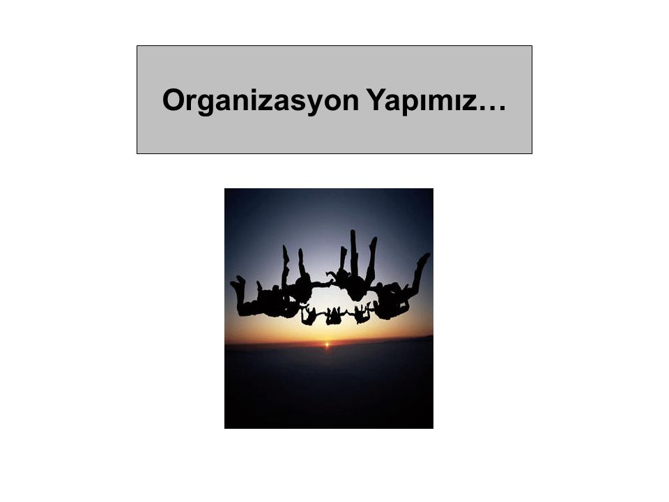 Organizasyon Yapımız…