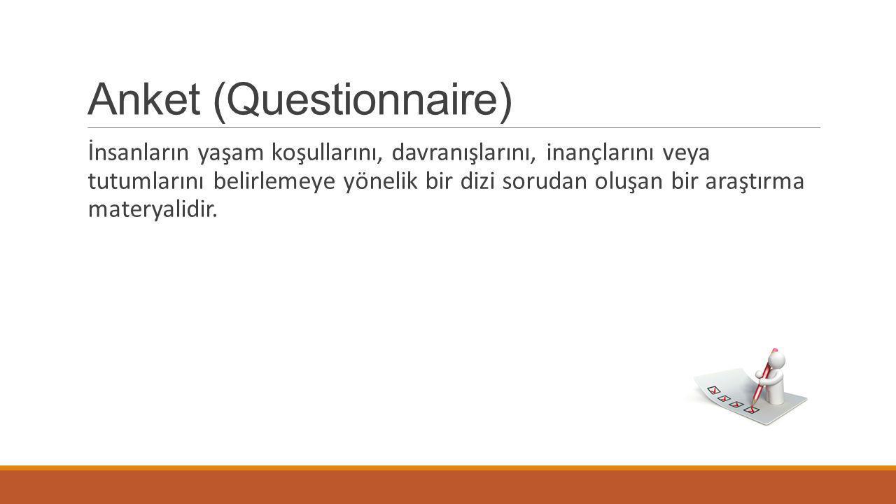 Anket (Questionnaire)