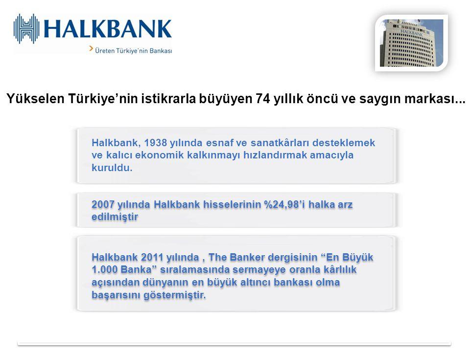 Yükselen Türkiye'nin istikrarla büyüyen 74 yıllık öncü ve saygın markası...