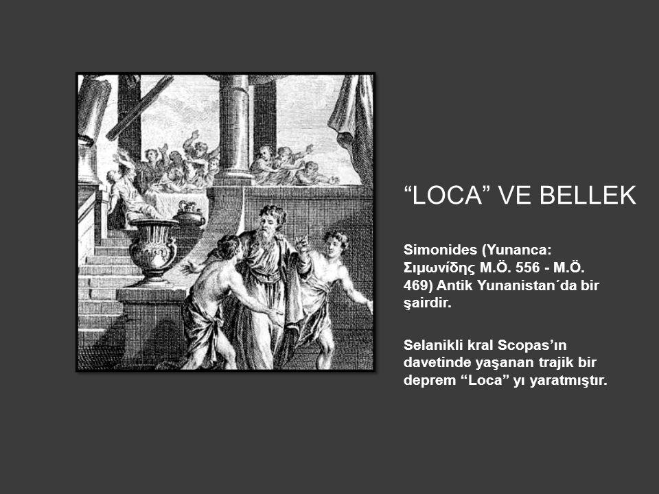 LOCA VE BELLEK Simonides (Yunanca: Σιμωνίδης M.Ö. 556 - M.Ö. 469) Antik Yunanistan´da bir şairdir.