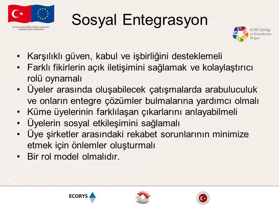 Sosyal Entegrasyon Karşılıklı güven, kabul ve işbirliğini desteklemeli