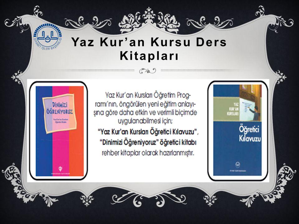 Yaz Kur'an Kursu Ders Kitapları