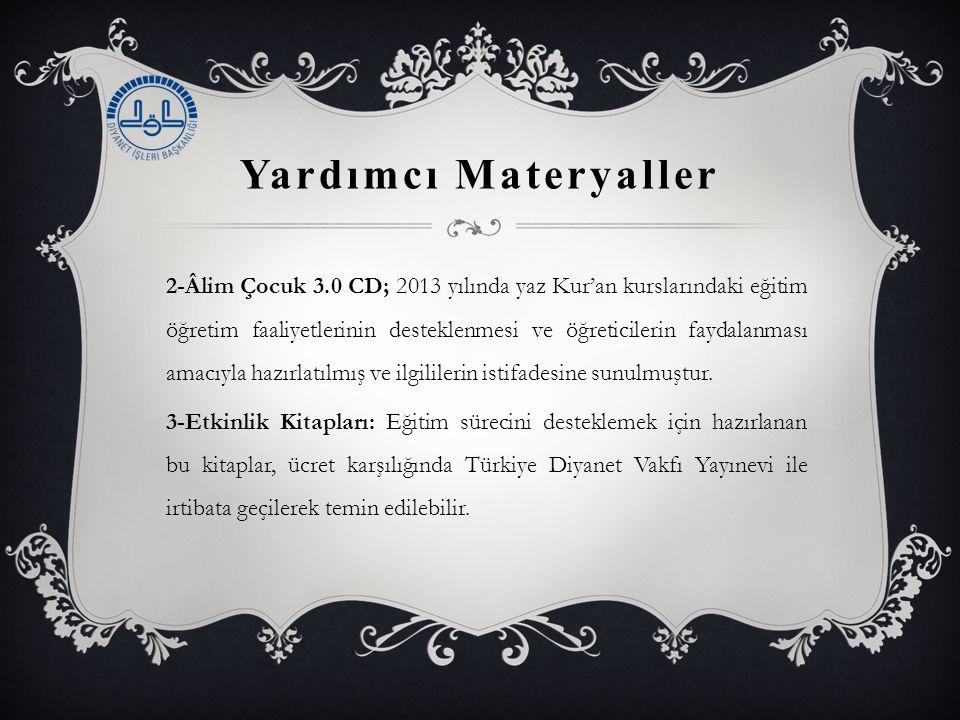 Yardımcı Materyaller