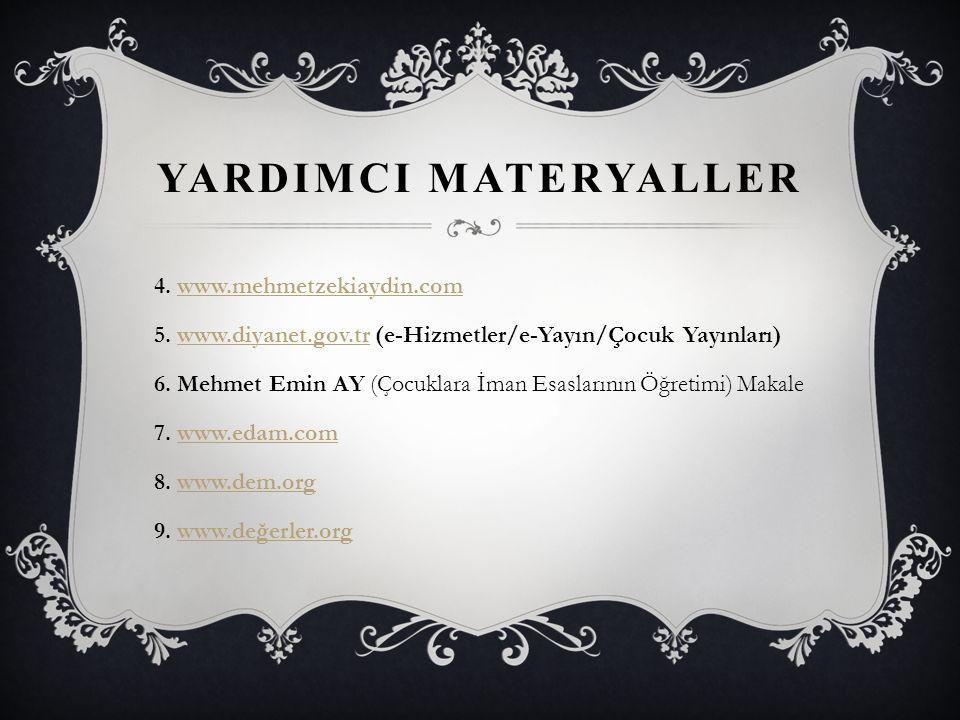 YardImcI Materyaller