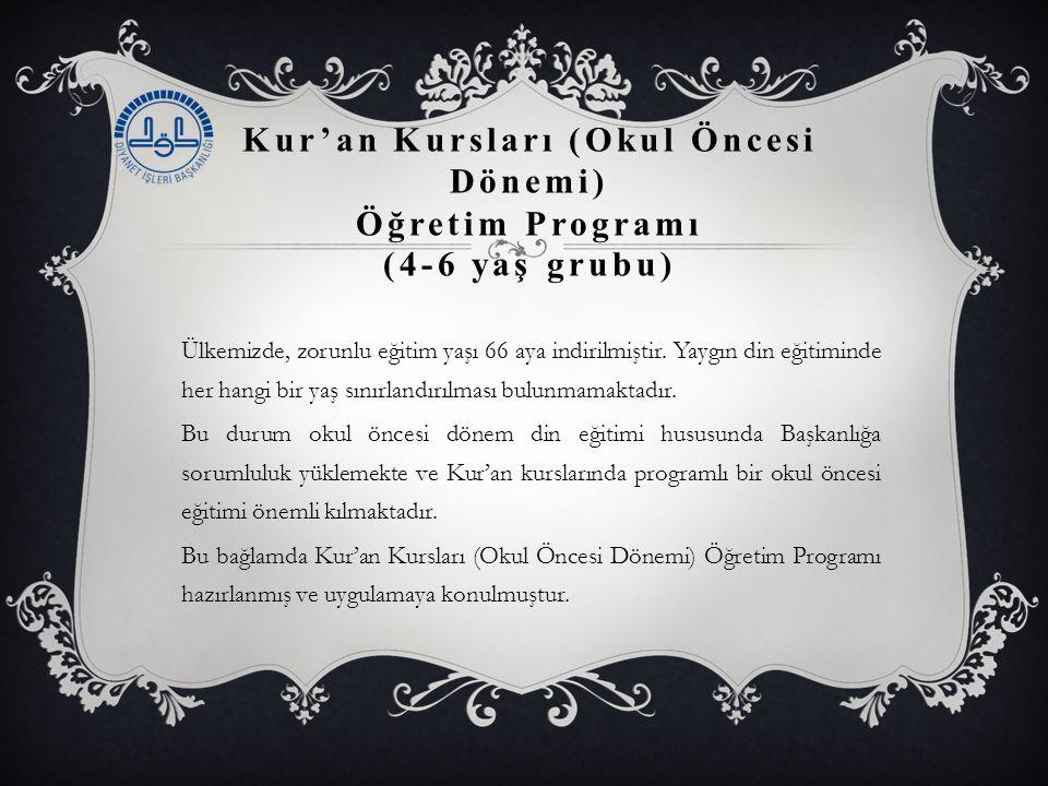 Kur'an Kursları (Okul Öncesi Dönemi) Öğretim Programı (4-6 yaş grubu)